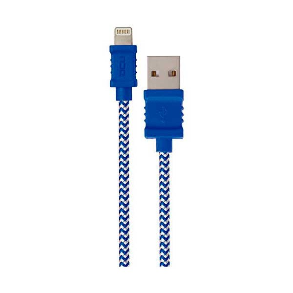 Dcu cable azul lightning para iphone, ipad e ipod a usb 1 metro