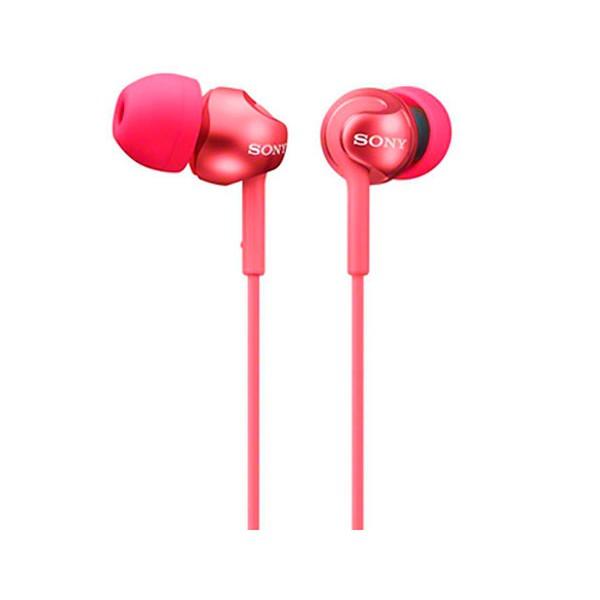 Sony mdrex110lpr rojo auriculares de botón conector en 90º