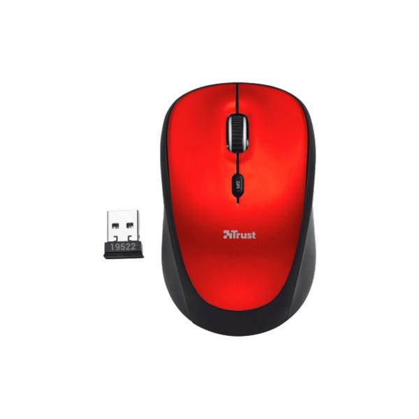 Trust yvi wireless rojo ratón inalámbrico