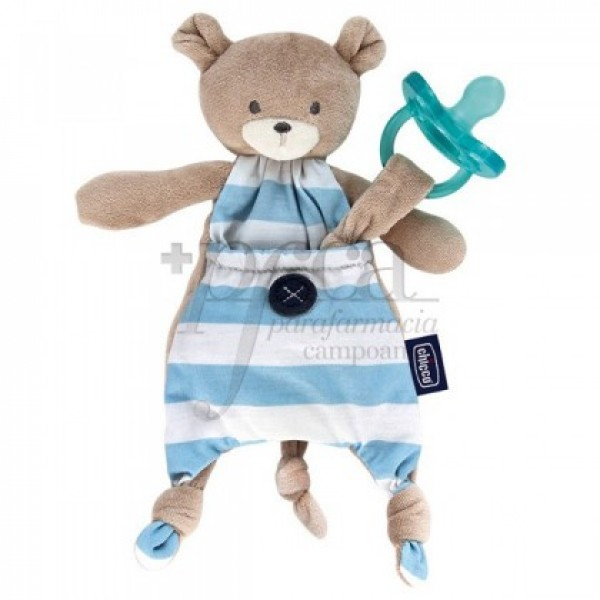 CHICCO GUARDA CHUPETE POCKET FRIEND AZUL 0M+