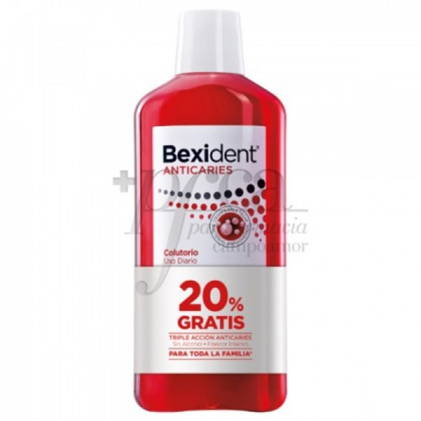 BEXIDENT ANTICARIES COLUTORIO 500ML PROMO