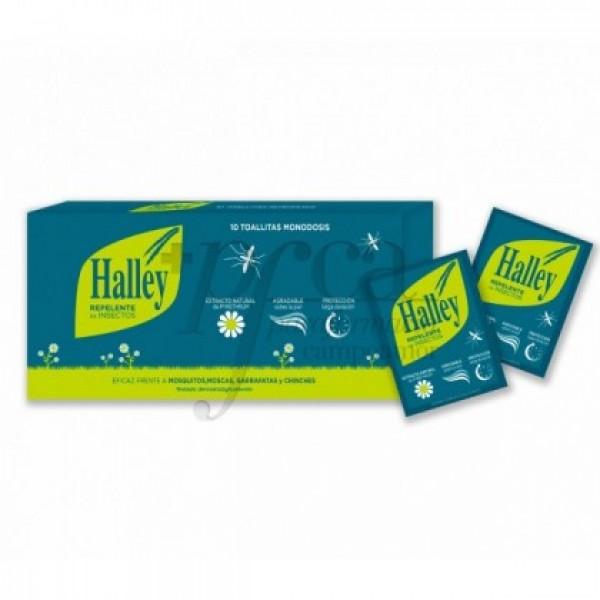 HALLEY REPELENTE INSECTOS TOALLITAS 10 U