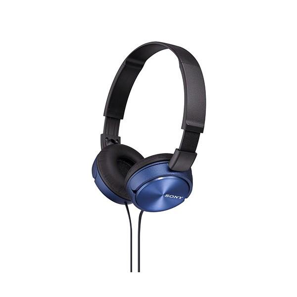 Sony mdrzx310l auriculares de diadema azules conector en 90º