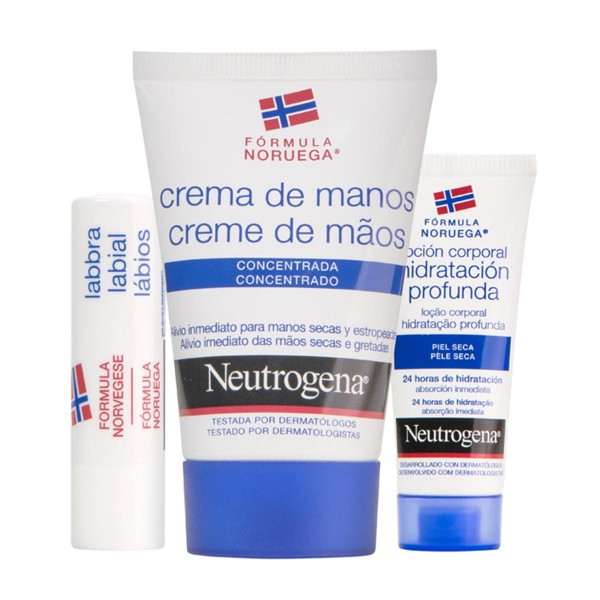Neutrogena nordic berry crema de manos 75ml + body milk 250ml + labial 4 8gr bayas nordicas