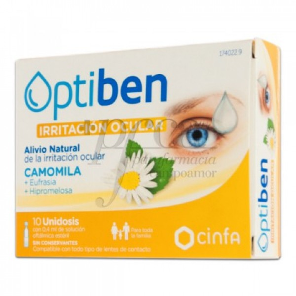OPTIBEN OJOS IRRITADOS 10 MONODOSIS DE 0,4 ML
