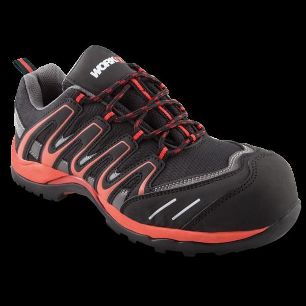 Zapato seg. workfit trail rojo n.35