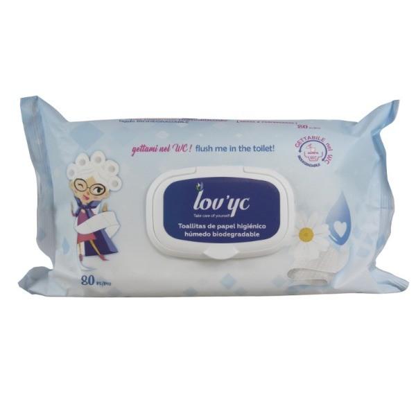 Lov'yc toallitas papel higiénico 80 uds