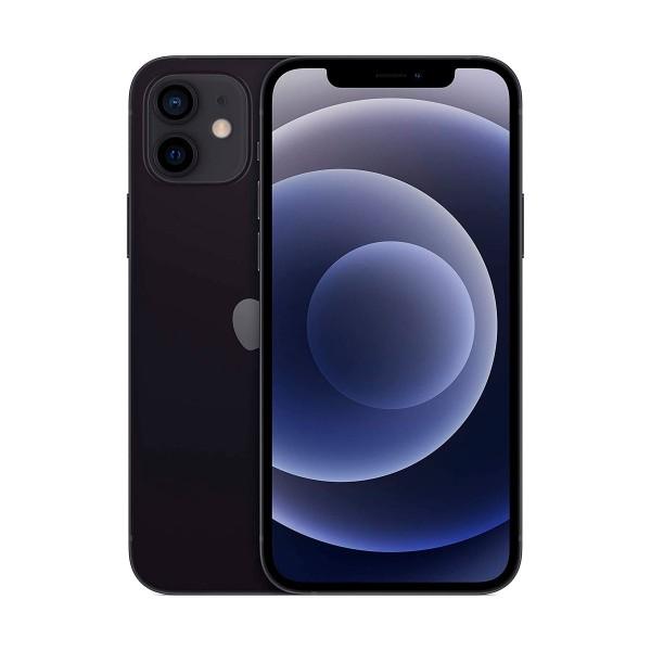 Apple iphone 12 negro móvil dual sim 5g 6.1'' oled super retina xdr cpu a14 bionic 64gb 6gb ram dualcam 12mp selfies 12mp