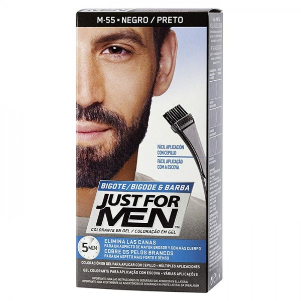 JUST FOR MEN BARBA BIGOTE NEGRO M-55