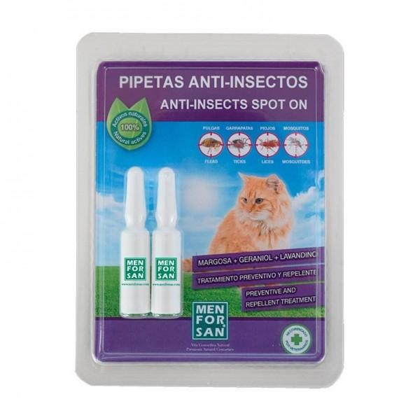 MEN FOR SAN PIPETAS ANTI-INSECTOS PARA GATOS 2U