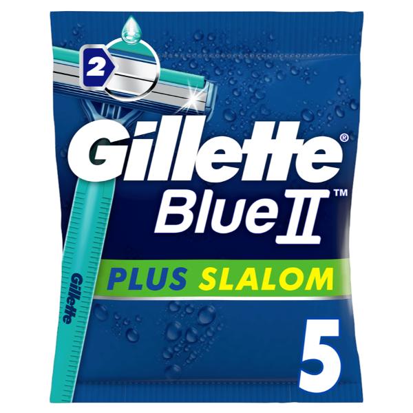 Gillette Blue II maquinillas Plus Slalom 5 uds