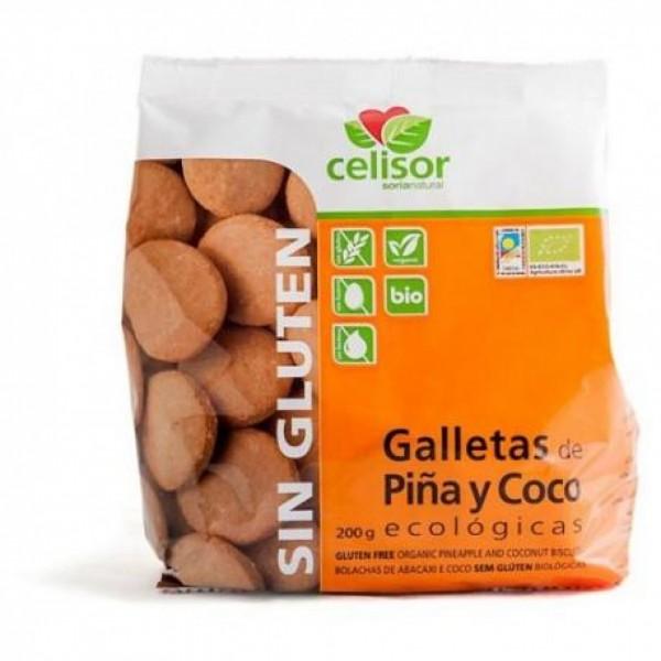 GALLETAS DE PIÑA Y COCO ECOLOGICAS 200G